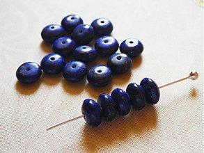 Minerály - lapis lazuli, rondelky, 8 x 3 mm - 764885