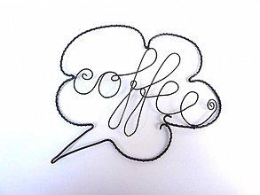 Dekorácie - povedzte to drôtom (Coffee) - 765447