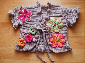Detské oblečenie - Kvetinkové bolerko - 76826