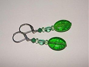 Náušnice - HM-014-Zelené šváby - 785572