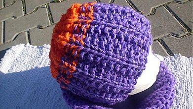 Čiapky, čelenky, klobúky - čiapka- S pomarančovou polevou - 786898