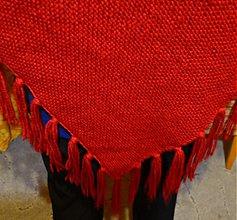 Šály - Červené objatie....vlniačik pre moju maminu - 787678