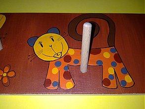 Nábytok - vešiak- veselé mačičky - 794738