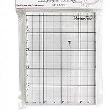 Pomôcky/Nástroje - akrylový blok na razítka 10x13,5cm  s mriežkou - 800744
