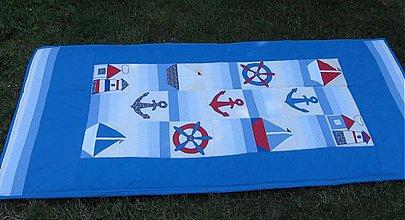 Úžitkový textil - Deka v námorníckom štýle - 810873
