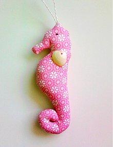 Dekorácie - morský koník ružový - 813730