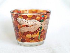 Svietidlá a sviečky - Svietnik na čajovú sviečku - Dragonfly - 817700