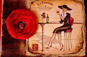 Krabičky - Veľká drevená krabica Dáma s ružami - 827832