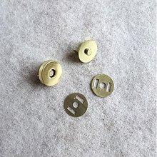 Galantéria - Magnetické zapínanie 18 mm mosadz (zlaté) - 829289