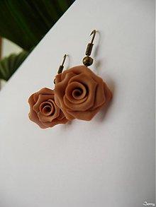 Náušnice - Kvety v béžovom - 843402