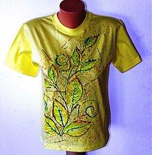 Tričká - Žluté s listy - 845019