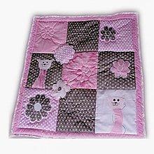 Textil - Dečka ružový mačací sen - 847346