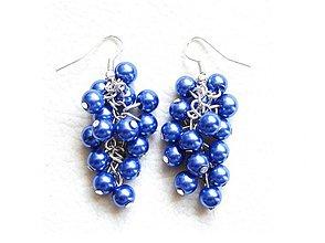 Náušnice - modré bobule - 847517