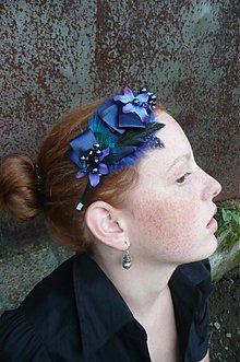 Ozdoby do vlasov - Parížska modrá by Hogo Fogo - 849205