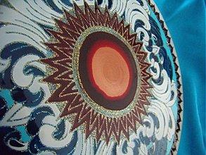Dekorácie - Mandala-Červené Slnko nad Morom - 849491