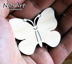 Materiál ručne robený - Základ na brošničku motýľ - 850759
