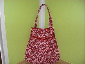 Veľké tašky - Motýliky -červená - 851957