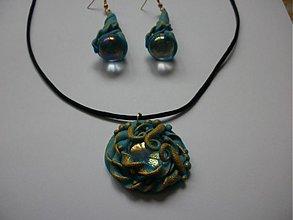 Sady šperkov - Modrý závoj - 858341