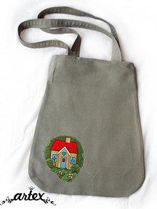 Nákupné tašky - Domček v prérii - ekologická nákupná taška - 859271