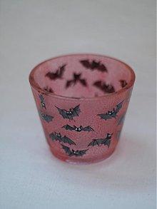 Svietidlá a sviečky - Svietnik na čajovú sviečku - Baby Bats (red) - 863215