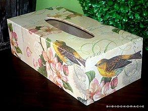 Krabičky - Box na hygienické vreckovky - 86905