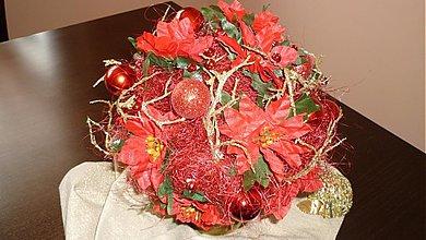 - Vianočná červená ikebana -25% pre rukjatko - 872989