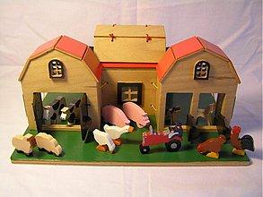 Hračky - Farma - drevená skladačka - 875086