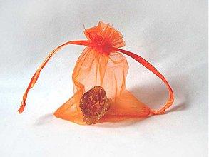 Obalový materiál - Organzové vrecúško 8x10 (Oranžové) - 881176