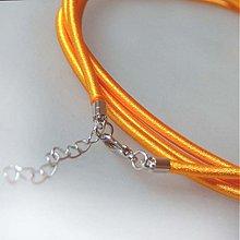 Komponenty - Hodvábny náhrdelník 3mm (Žltooranžový) - 883645