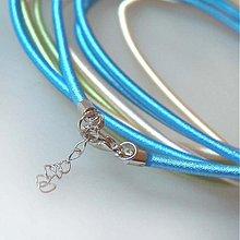 Komponenty - Hodvábny náhrdelník 3mm (Svetlomodrý) - 883676