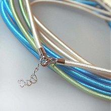 Komponenty - Hodvábny náhrdelník 3mm (Perlový) - 883686