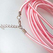 Komponenty - Hodvábny náhrdelník 3mm (Svetlý ružový) - 883694