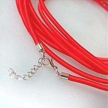Komponenty - Hodvábny náhrdelník 3mm (Červený) - 883701