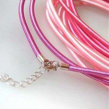 Komponenty - Hodvábny náhrdelník 3mm (Svetlofialový) - 883721