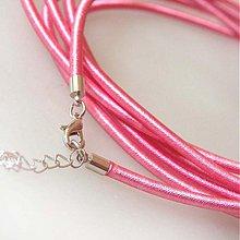 Komponenty - Hodvábny náhrdelník 3mm (Ružový) - 883739