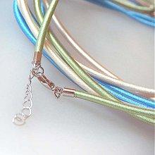 Komponenty - Hodvábny náhrdelník 3mm (Svetlozelený) - 883755