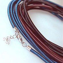 Komponenty - Hodvábny náhrdelník 3mm (Tmavomodrý) - 883761