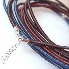 Komponenty - Hodvábny náhrdelník 3mm (Čierny) - 883787