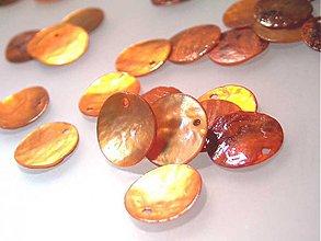 Minerály - Perleť farebná / kruh 15mm (Oranžová) - 884156