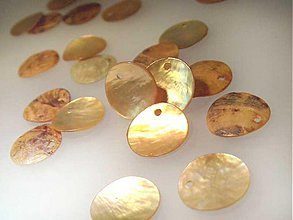 Minerály - Perleť farebná / kruh 15mm (Zlatá) - 884250
