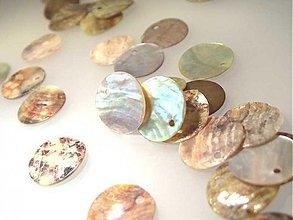 Minerály - Perleť farebná / kruh 15mm (Prírodná) - 884264