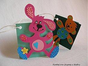 Papiernictvo - visačky na darčeky Kamaráti - 890739