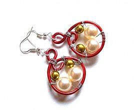Náušnice - Perličky v drôte - 89730