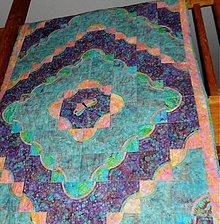 Úžitkový textil - azúrová deka s motýľom - ukážka - 897819