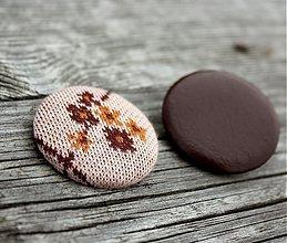 Materiál ručne robený - Retro gombíky kvietok a koža - 901332