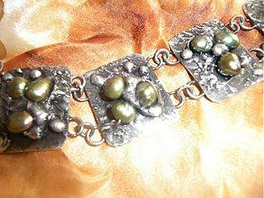 Náramky - Náramok - falošné perly-PREDANÉ - 901740