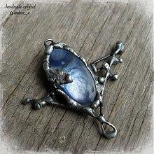 Náhrdelníky - modrá perleť - 902735