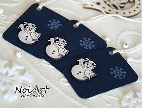 Papiernictvo - Vianočné menovky snehuliačik - 904710