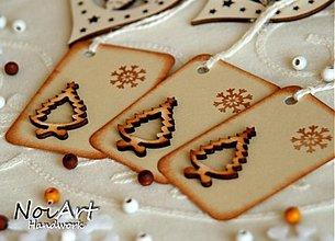 Papiernictvo - Vianočné menovky stromček - 912068