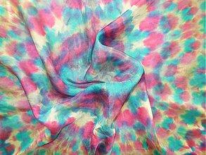 Šatky - Šatka Modrý kvet - 916220